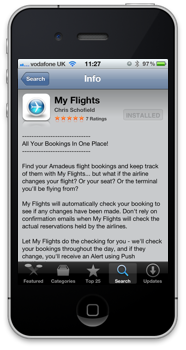 Click for MyFlights on the App Store